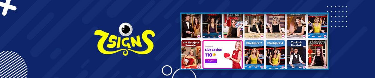 7signs live casino