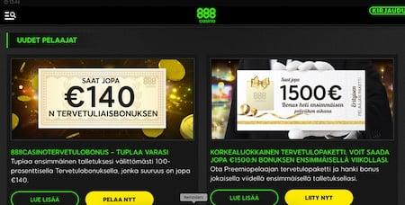 tarjoukset kasinolla