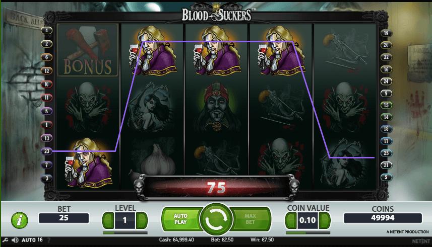 Voitto Blood Suckers pelistä