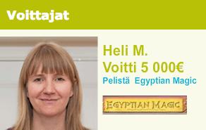Heli voitti 5000€ Egyptian Magic pelistä