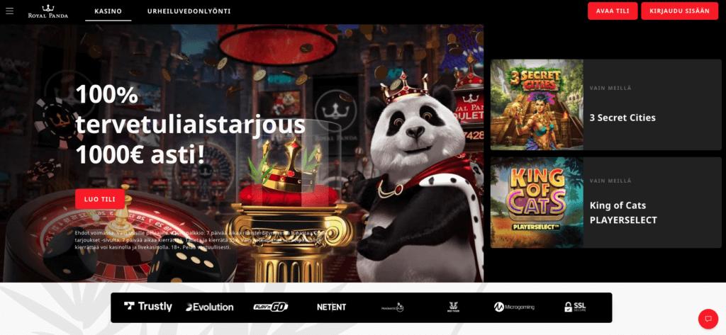 Royal Panda etusivu