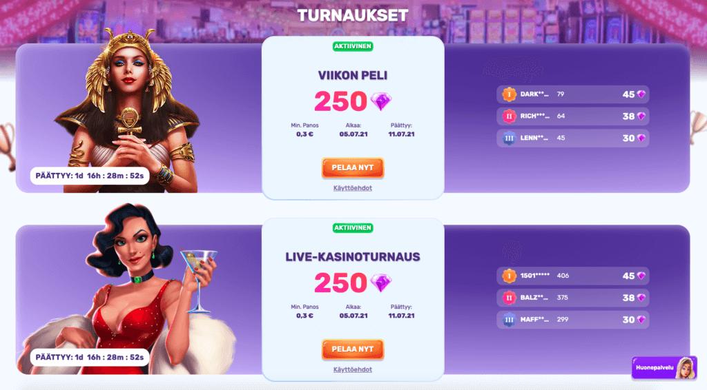 SlotsPalace turnaukset