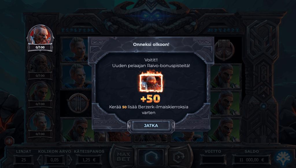 Bonuspisteitä pelissä