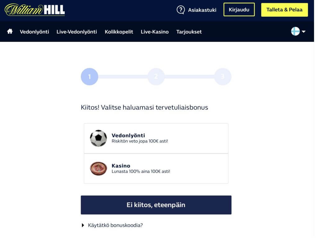 WilliamHill Bonus