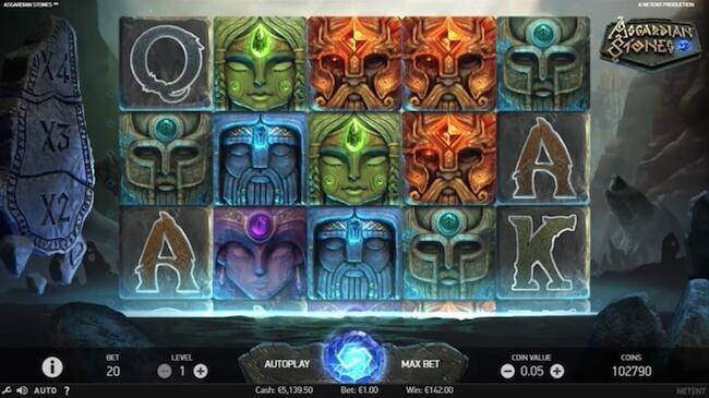 Pelaa jännittävää Asgardian Stones kolikkopeliä!