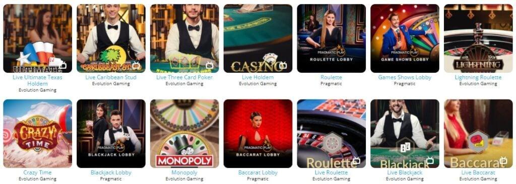 Barz live-casino