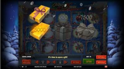 merry xmas kolikkopelin bonusominaisuus on mitä mahtavin!