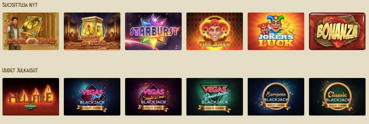 Casino lab pelivalikoima