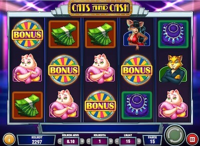 Cats and Cash onnenpyörä bonus