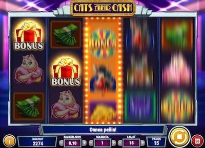 Cats and Cash bonus symbolit