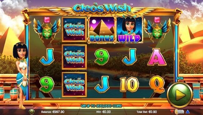cleo's wish pelissä pelaaja voi kerätä uskomattomia voittoja!