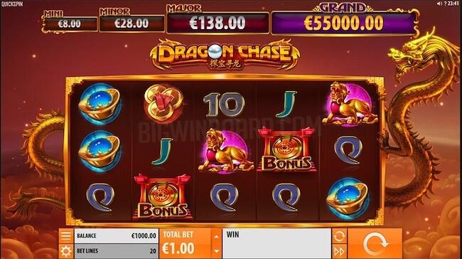 Dragon Chase peliruutu