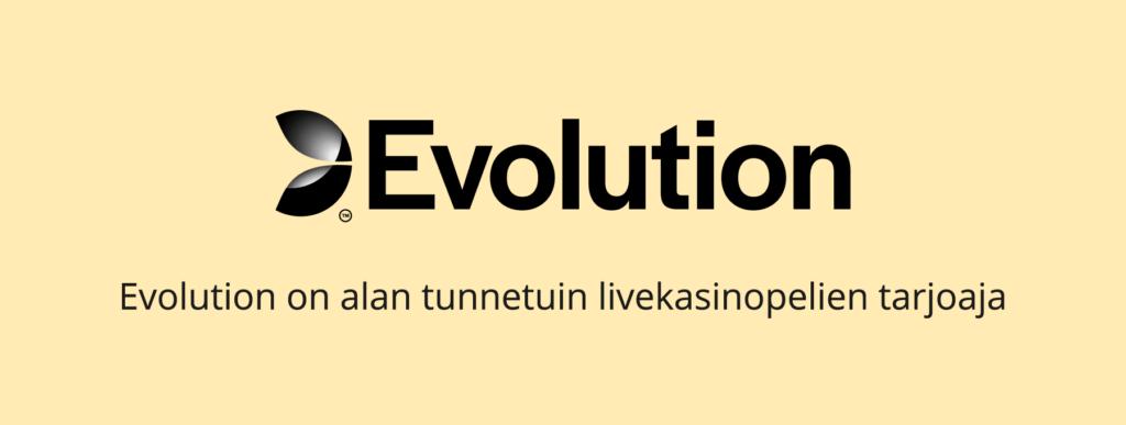 Evolution - alan tunnetuin livekasinopelien tuottaja