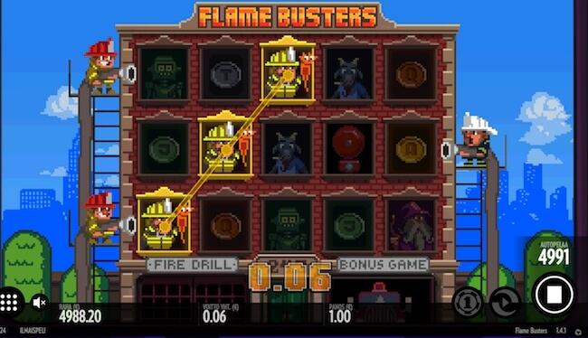 Flame Busters voita kolikoita pelistä!