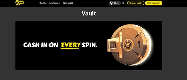 kasinon vault