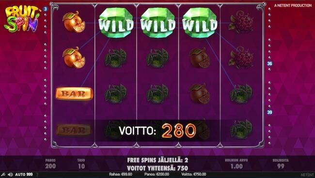 Fruit Spin - voittoja miltei joka lähtöön!