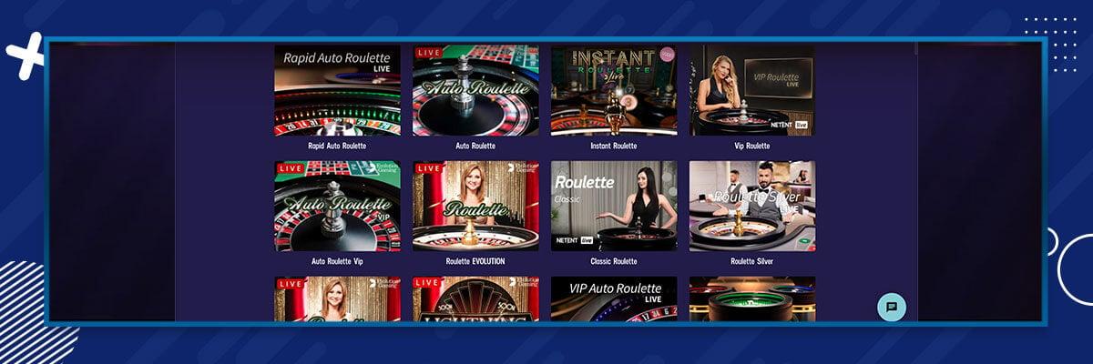 Gambola live casinopelit