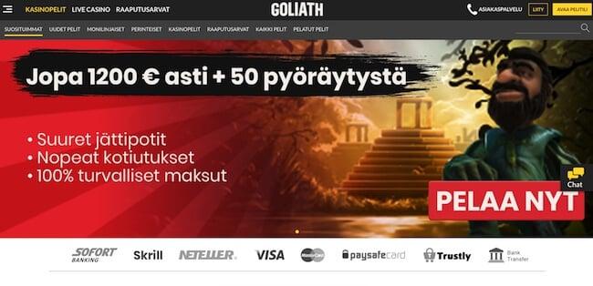 Goliath nettikasinon etusivu