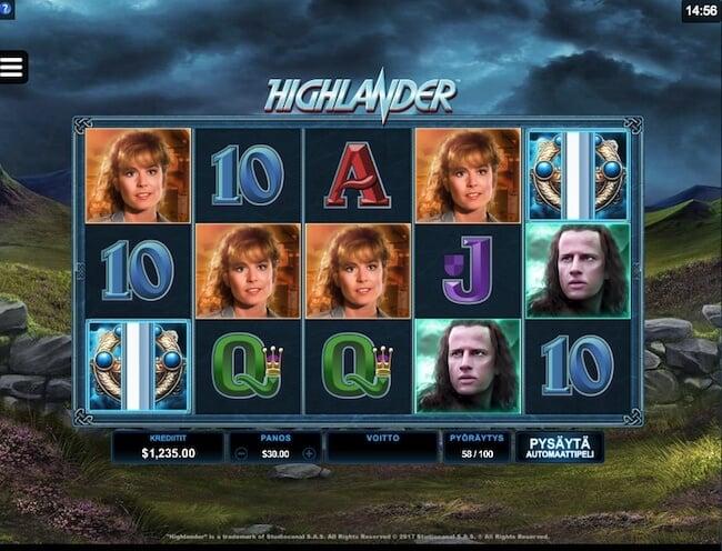 Highlander elokuvaan pohjautuva kolikkopeli!