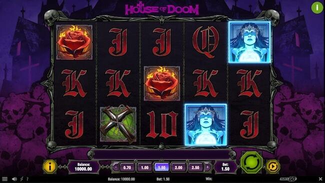 House of Doom pelin aloitusnäyttö!