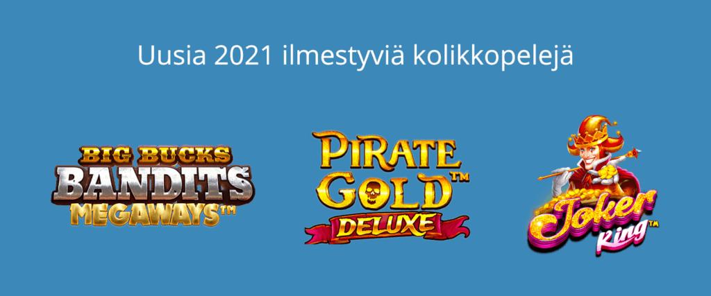 Uudet kolikkopelit 2021