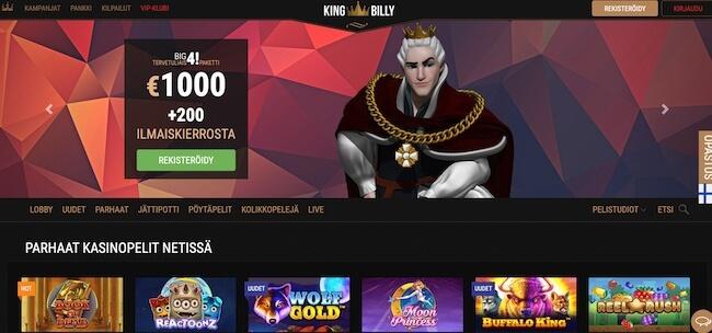 King Billy etusivu