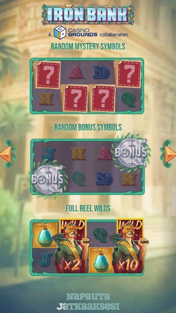 Iron Bank bonus symbolit