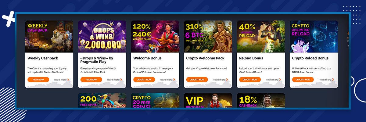 Monte Cryptos tarjoukset