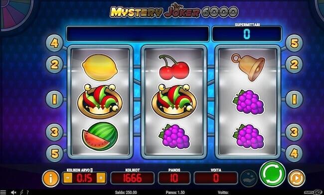 mystery joker 6000 klassinen hedelmäpeli!