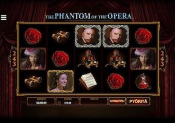 Phatom of The Opera, jännitystä täynnä oleva kolikkopeli!