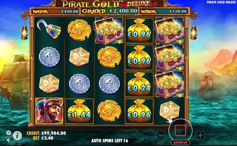 Pirate Gold Deluxe scatter
