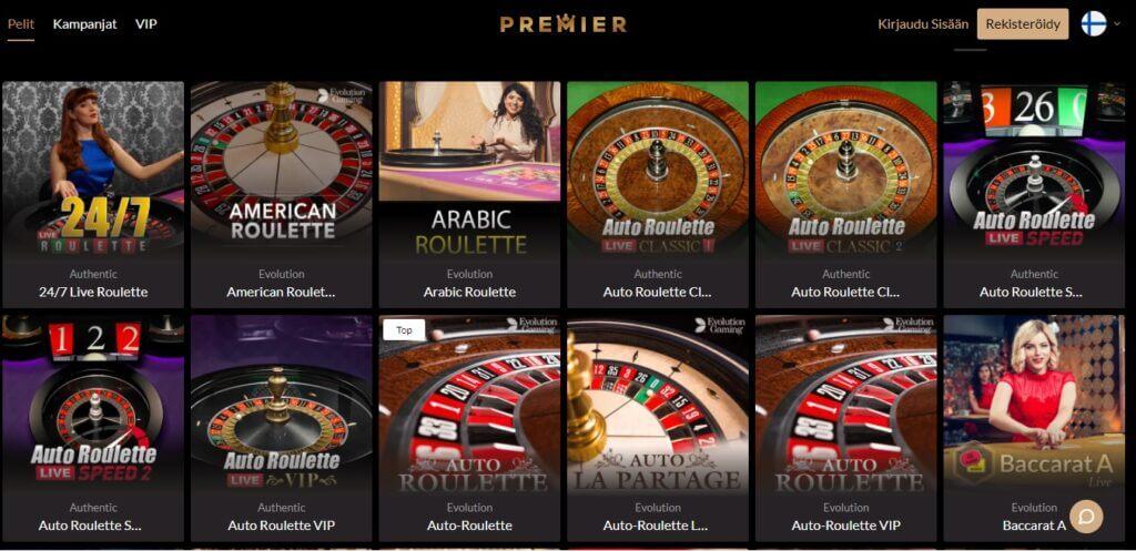Premier live-casino