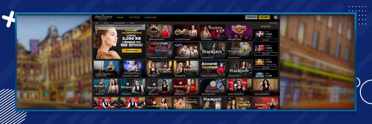 Regent Casino live casinopelit