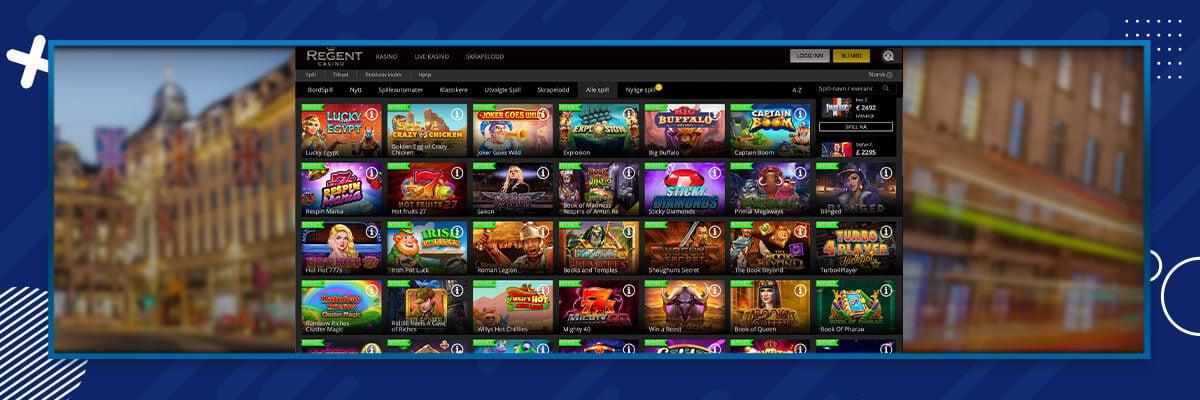 Regent Casino pelivalikoima