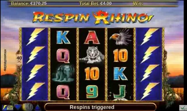 Respin Rhino kolikkopeli