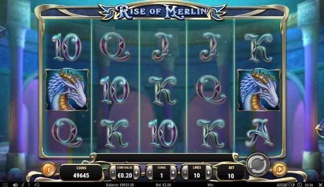Rise of Merlin aloitusnäyttö