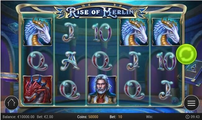 Rise of Merlin kolikkopeli