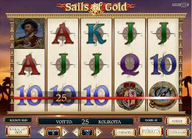 Sails of Gold kolikkopeli