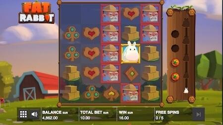 Fat Rabbit pelin symbolit hyvin esillä!