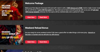 Royal Rabbit Casino tarjoukset