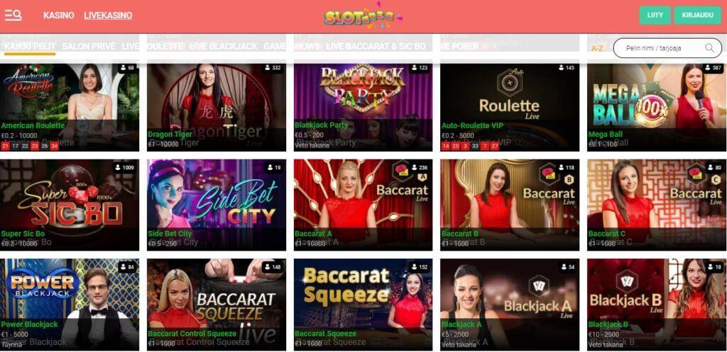 Slotanza live-kasino