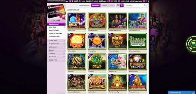 SlotJoint kasinon pelivalikoima