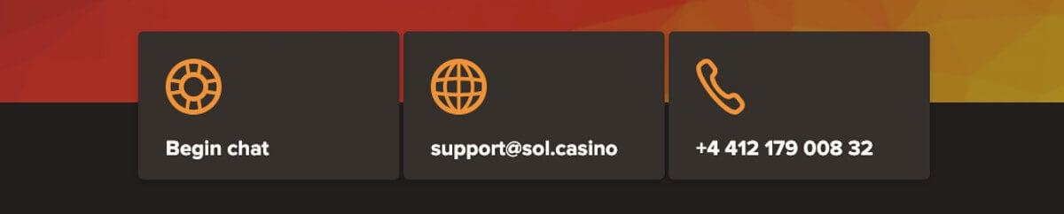 Sol casino asiakaspalvelu