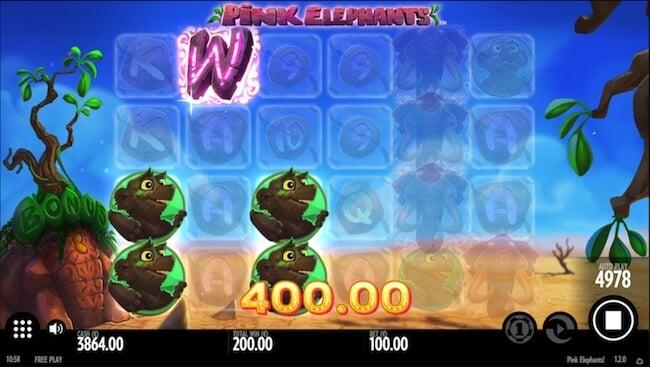 Mega suuri voitto pelistä nimeltä Pink Elephants