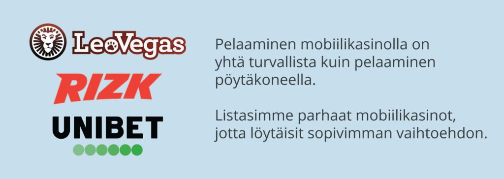 Mobiilikasinoiden turvallisuus