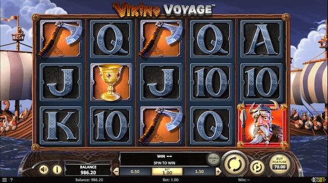 Viking Voyage aloitusnäyttö
