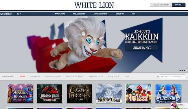 White Lion kasino etusivu