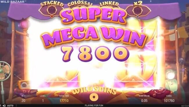 super mega voitto pelissä