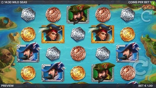 Wild Seas jännittävällä tarinalla varustettu kolikkopeli!