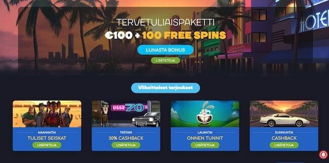 WildTornado kasinon edut
